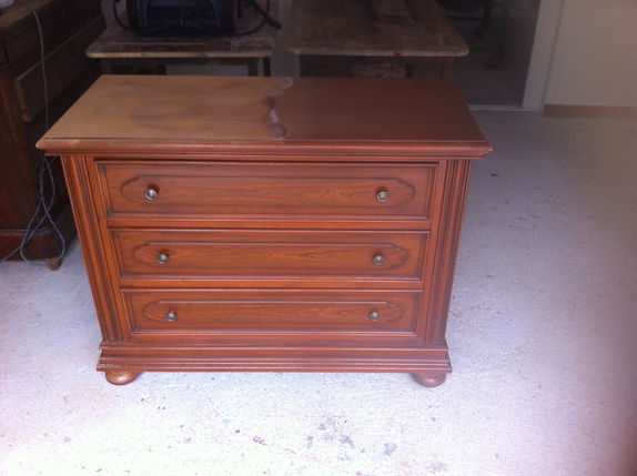 commode avant restauration