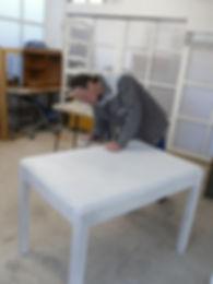 élève en préparation patine