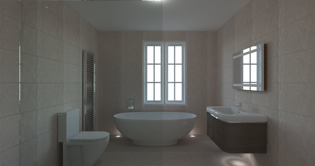 Roll top bath design
