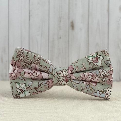 Matcha Rose Bow Tie
