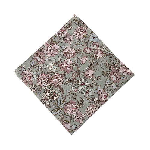 Matcha Rose Pocket Square