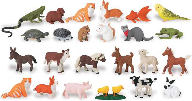 Фигурки животных для игр и занятий с логопедом