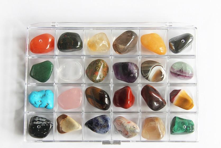 Антистресс подарок Коллекция самоцветов в контейнере