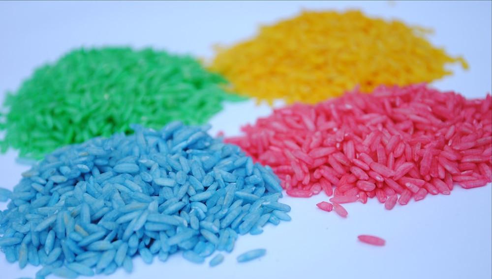 Цветной рис антистресс  для сенсорных игр
