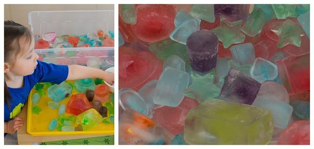 кубики льда для Сенсорной интеграции
