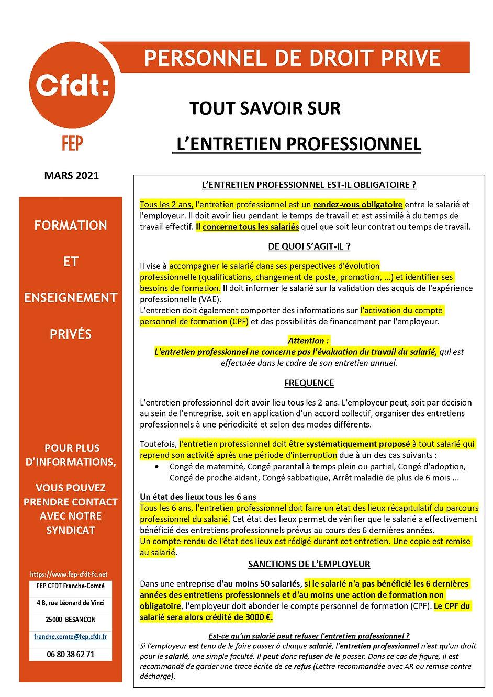 PDP affichette ENTRETIEN PROFESSIONNEL A