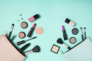 Make up products spilling out of a paste