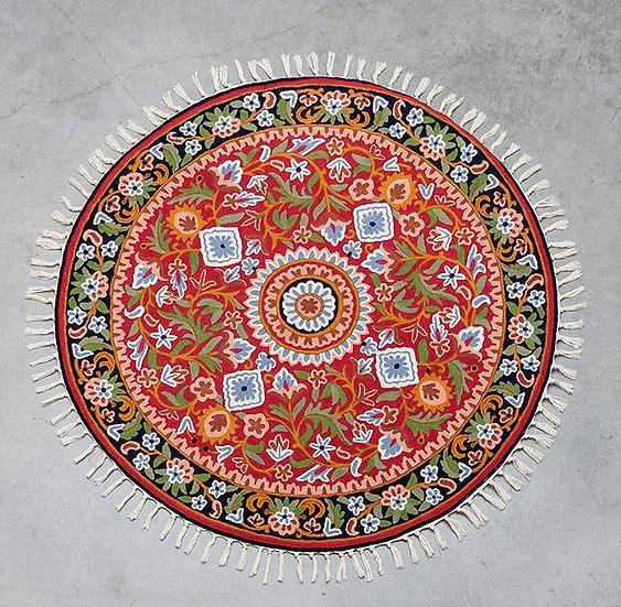 שטיח עגול | שטיח עגול אדום | שטיח עגול לחדר ילדים | שטיח עגול לסלון