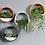 Thumbnail: עציץ עגול דקורטיבי לקיר - שחור או לבן