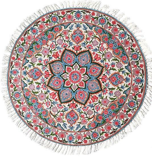 שטיח צמר עגול 2