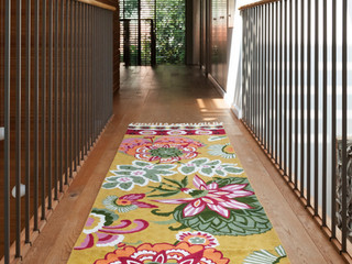 Beautiful hand embroider woolen runners for a narrow space or hallway