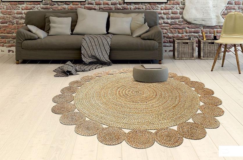 שטיח עגול יוטה עיגולים