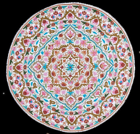 שטיח ורוד עגול | שטיחים לחדר שינה | שטיח עגול לחדר ילדים | שטיח עגול לסלון