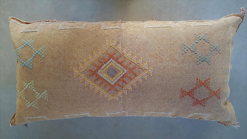 כרית סברה מרוקאית זוגית-אדמה בהיר