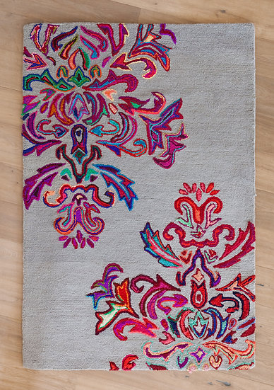 שטיחי יוטה איכותיים| שטיח יוטה טבעי | שטיח בעבודת יד | שטיח אפור צבעוני