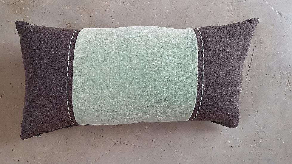 ירוק טורקיז/אפור מלבני