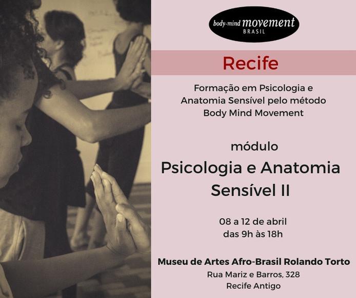 Psicologia e Anatomia Sensível II RECIFE método Body Mind Movement