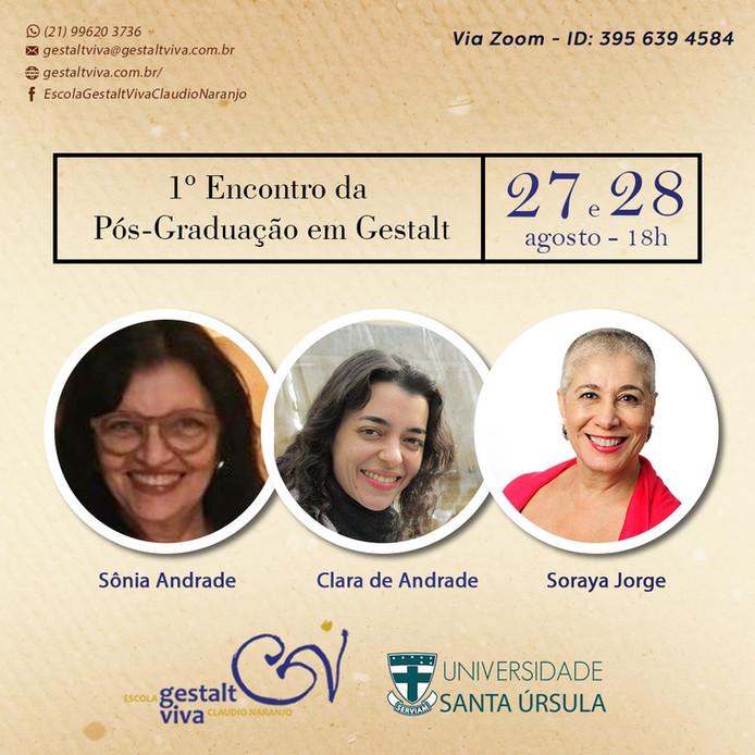 Soraya Jorge no 1º Encontro de Apresentação do Curso de Pós-graduação em Gestalt