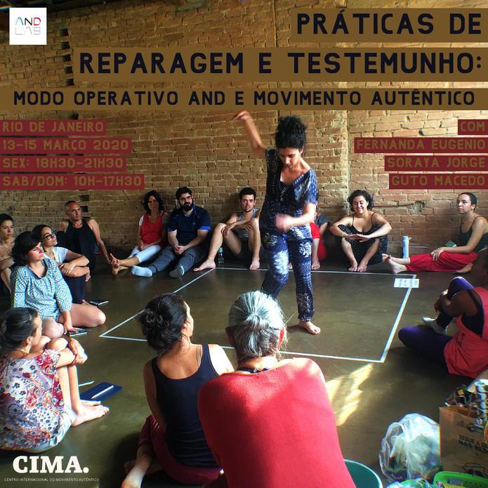 PRÁTICAS DE REPARAGEM E TESTEMUNHO Modo Operativo And e Movimento Autêntico
