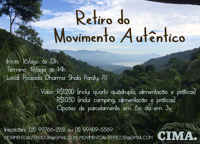 2º   RETIRO   de   Movimento   Autêntico   no    Brasil!