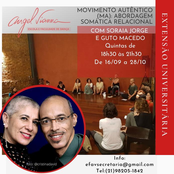 Movimento Autêntico (MA): Abordagem Somática Relacional, extensão pela Faculdade Angel Vianna