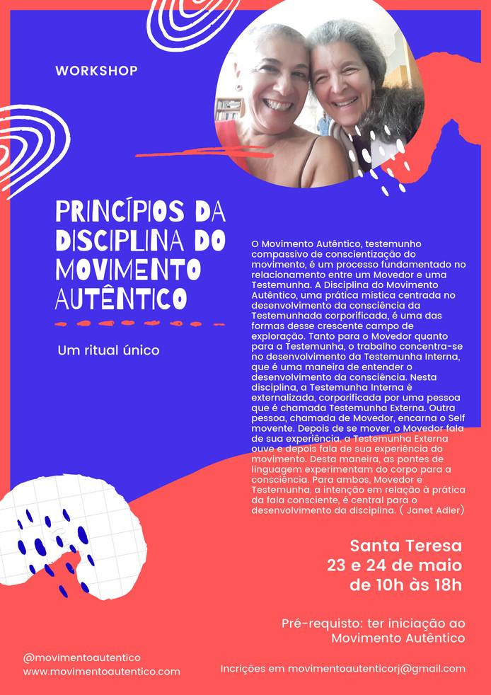 Princípio da Disciplina do Movimento Autêntico -workshop Rio de Janeiro