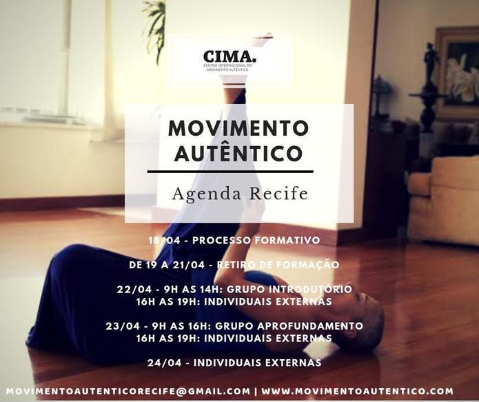 Agenda Movimento Autêntico em RECIFE