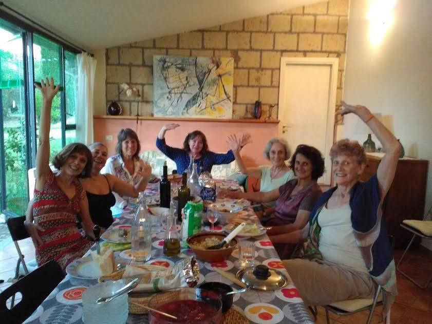 Soraya Jorge em Retiro de Movimento Autêntico enquanto prática mística, na Itália