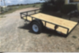 Single Axle 6 1/2 Wide Tilt - Trailer Express Mfg., Sikeston, MO