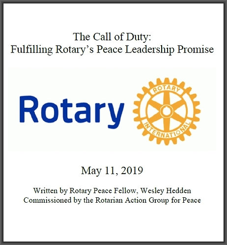 "The Call of Duty - Fulfilling Rotary's Peace Leadership Promise (8 1/2"" x 11"")"