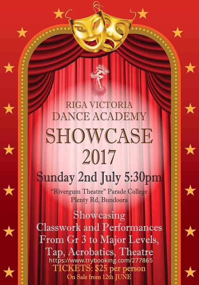 Showcase 2017 at the Rivergum Theatre Bundoora on Sunday 2nd July