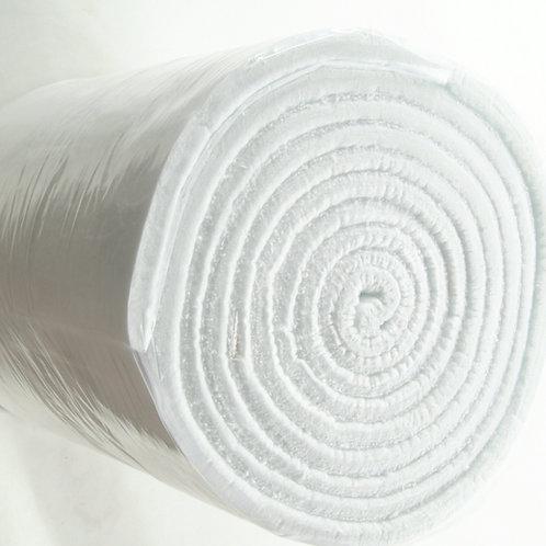 Ceramic Fiber Blanket Density: 128 Kg/m3. 7620 mm x 610 mm x 25 mm