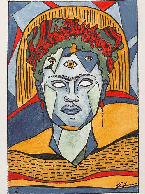 'Trippy Frida' Painting Print