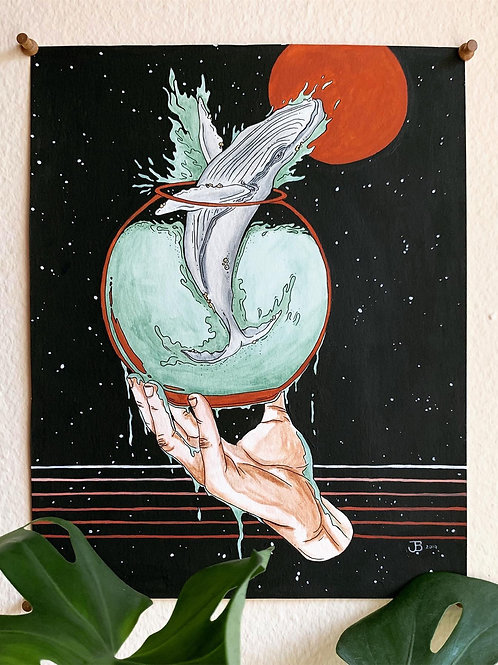 'Space Whale' Painting Print