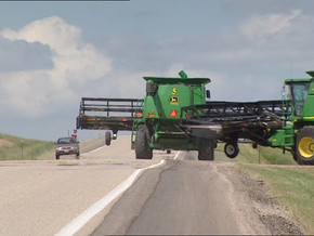 Road safety during harvest