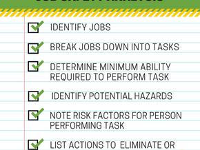 "SUPPORTING SENIORS: ""Job Safety Analysis"""