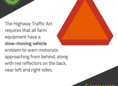 Remember your slow moving vehicle signage