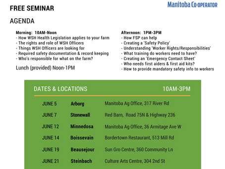 June 2018 free WSH seminars for farmers