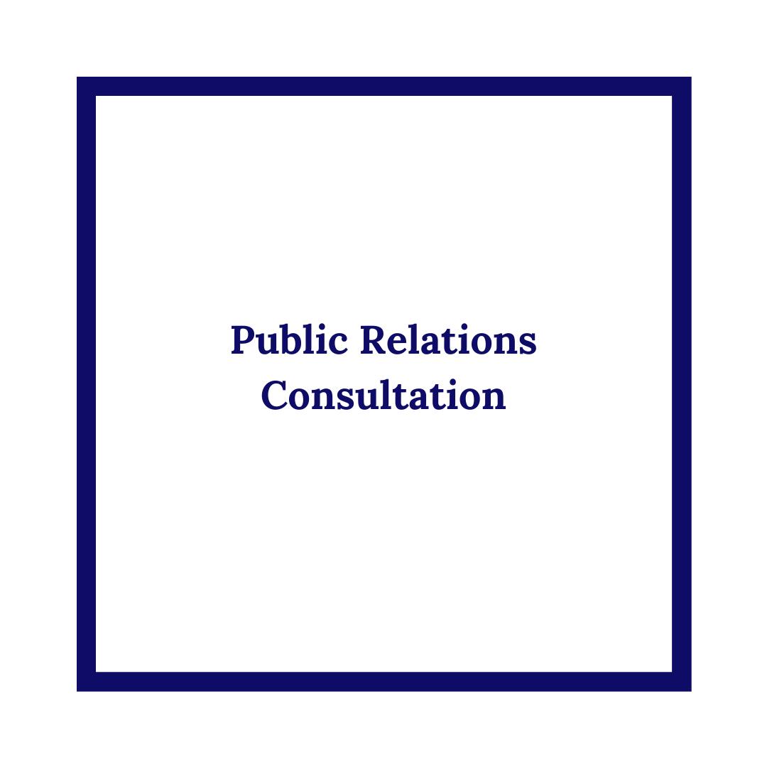Public Relations Consultation