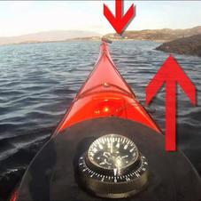 Gordon Brown Kayaking across currents: Navigating with Landmarks