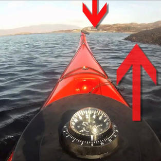 Gordon Brown Kayaking across currents: Navigating with Landmarks