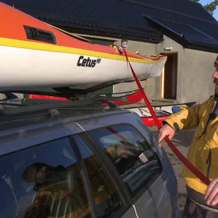 Transporting a Sea Kayak