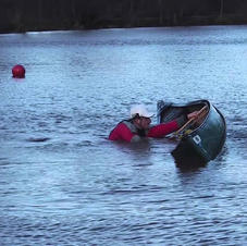 FSRT Capsize and Climb back in Solo Canoe
