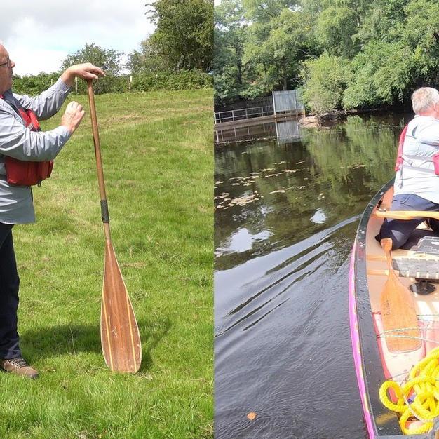 Ray Goodwin Canoe Paddling Backwards