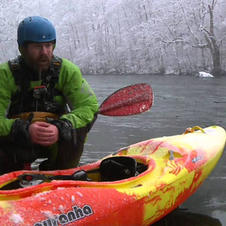 River Kayaking Punching a feature