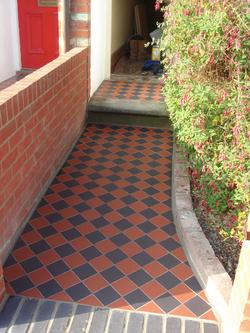 100mm Red & Black Quarry Tiles