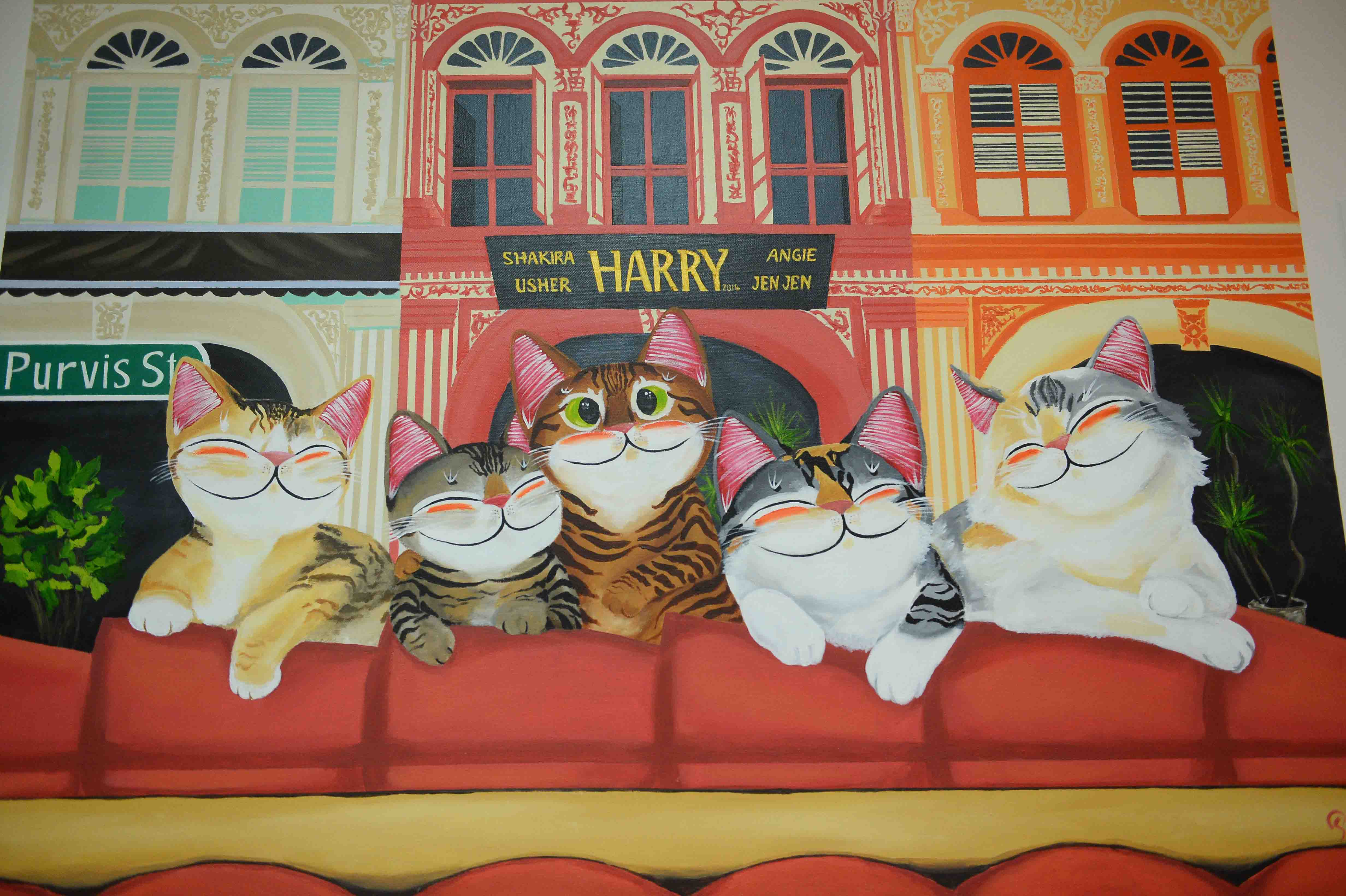 A commissioned piece by Singapore artise Paul Koh of the Supurrstar cats.jpg