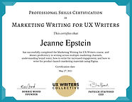 Certificate - Marketing Writing for UX W
