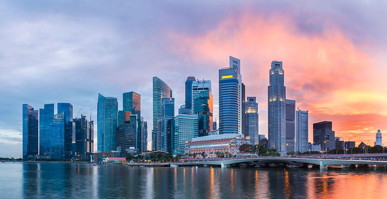 panoramic view of Singapore skyscrapers