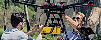 Drone lidar location